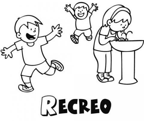 Dibujo gratis de niños en el recreo, imágenes del colegio para ...