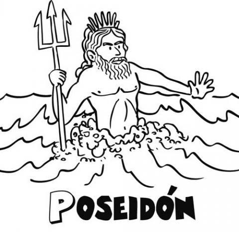 Poseidón: Dibujos para colorear