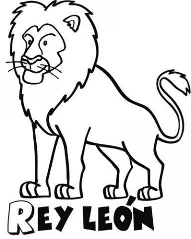 Dibujo para imprimir y pintar del Rey León. Dibujos de animales