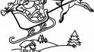 Trineo de Papá Noel. Dibujos para colorear gratis