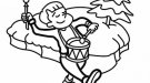 Dibujo de un tamborilero en Navidad para colorear