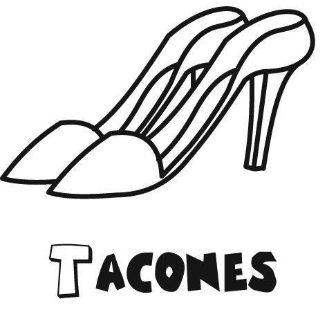Zapatos de tacon: Dibujos para colorear