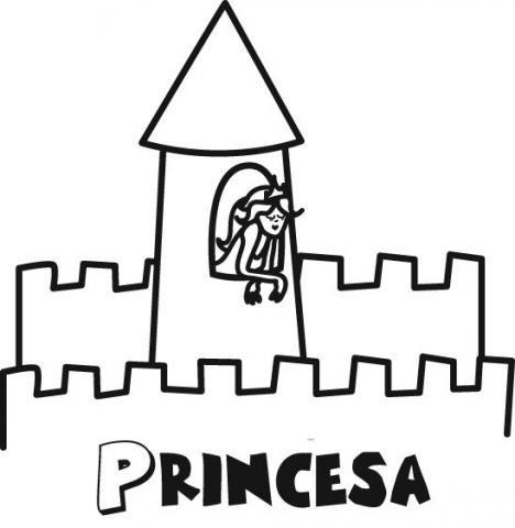 Imagenes de princesas para pintar y castillos - Imagui
