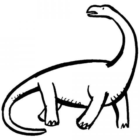 Dibujo de dinosaurio para imprimir y pintar. Dibujos de animales