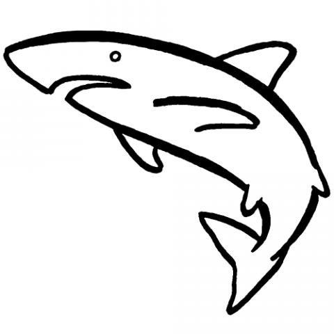 Tiburón nadando: Dibujos para colorear
