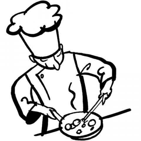 Cocinero: Dibujos para colorear