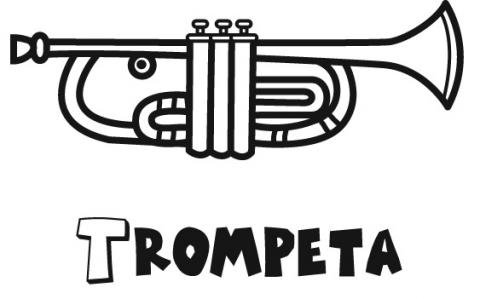 Trompeta: Dibujos para colorear