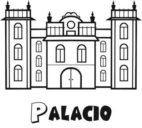 Palacio para colorear - Imagui