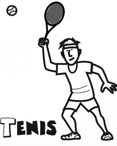 Tenis: Dibujos para colorear
