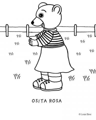 Osita Rosa: Dibujos para colorear