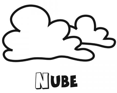 Dibujo para colorear con los niños de una nube