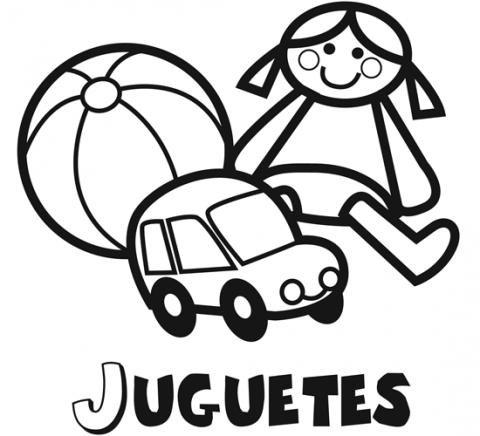 Dibujos de juguetes para imprimir y colorear con los ni os - Cosas para guardar juguetes ...