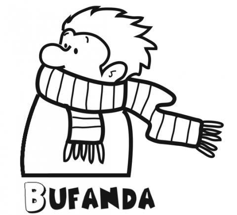 Dibujos gratis de una bufanda. Imágenes de ropa de invierno para ...
