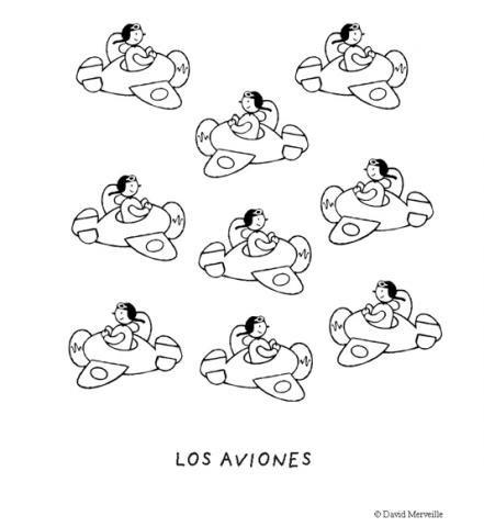 Imprimir: Aviones: Dibujos para colorear