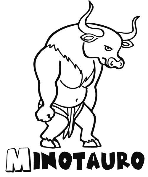 Minotauro: Dibujos para colorear