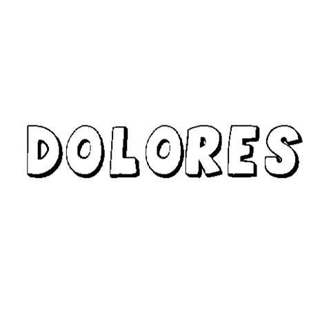 DOLORES: Dibujos para colorear