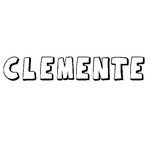CLEMENTE: Dibujos para colorear