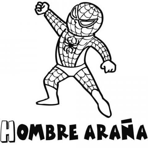 Imprimir: Dibujos de spiderman para colorear por los niños