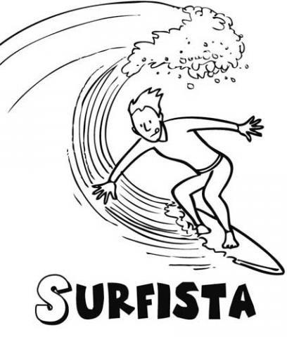 Surfista dibujos para colorear - Dibujos para tablas de surf ...