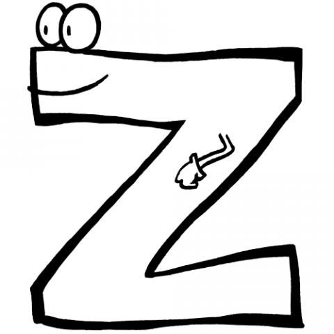 Letra Z: Dibujos para colorear