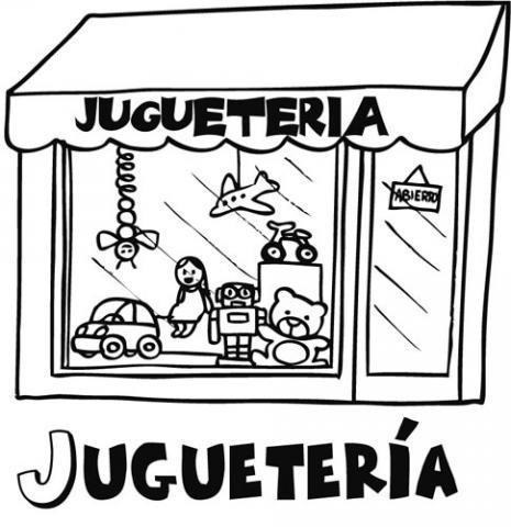 Dibujos para pintar de tiendas jugueter a - Como iluminar un escaparate ...