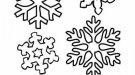 Dibujos de diferentes tipos de copos de nieve en invierno para colorear