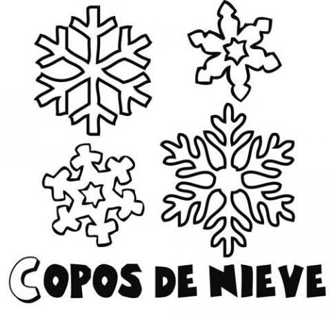 Dibujos Copos De Nieve