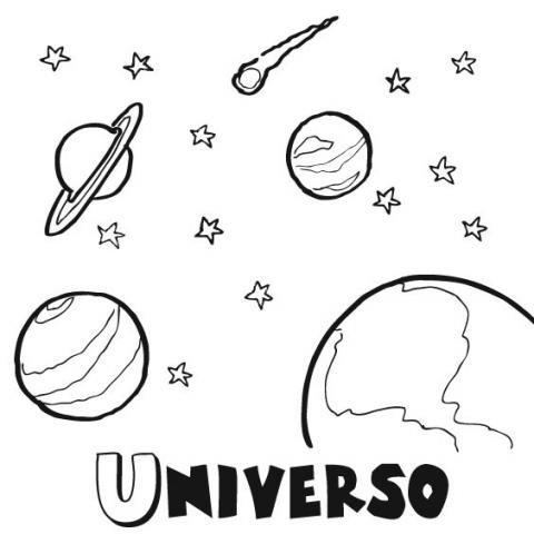 Dibujos para colorear del Universo. Imágenes gratis