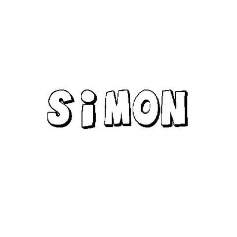 SIMÓN: Dibujos para colorear