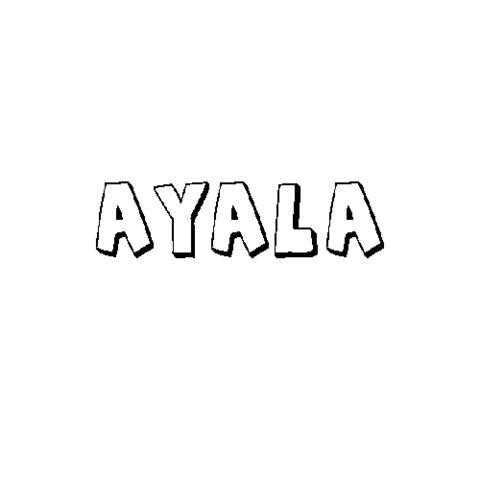 AYALA: Dibujos para colorear