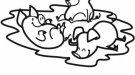Dibujo infantil de animales. Cerditos para colorear