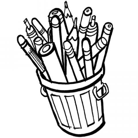 Bote de lápices: Dibujos para colorear