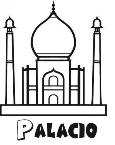 Imprimir: Dibujo de un palacio para imprimir y colorear ...
