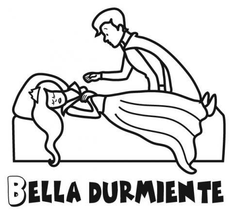 Bella durmiente: Dibujos para colorear