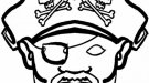 Dibujos de una careta de pirata para colorear en Carnaval