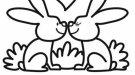 Dibujos infantiles de conejos en primavera para imprimir y colorear con niños.
