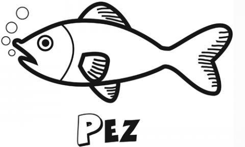Dibujo de un pez, animales del mar para colorear