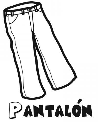 Pantalón: Dibujos para colorear
