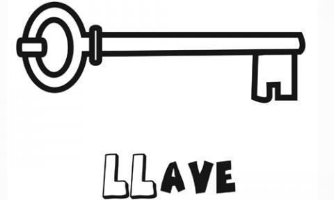 Dibujo de una llave para colorear im genes gratis de objetos for Imagenes de llaves de agua
