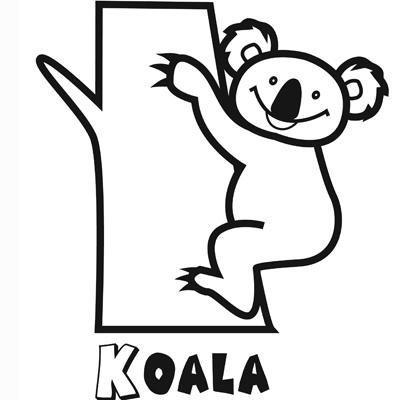 Dibujo para imprimir y pintar de un koala