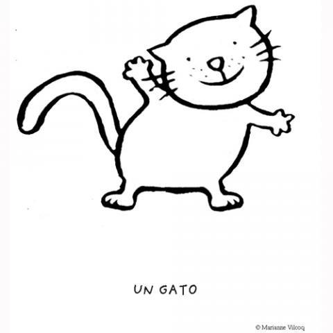 Gato dibujos para colorear - Dibujos de gatos pintados ...