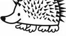 Dibujo infantil de erizo para colorear. Dibujos de animales para niños