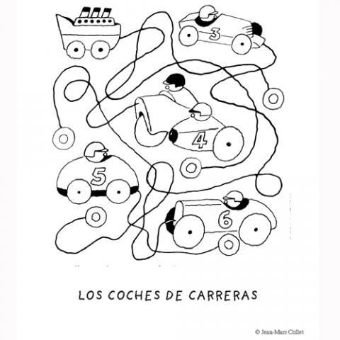 Imprimir: Coches de carreras: Dibujos para colorear