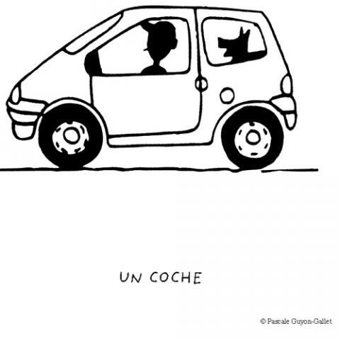 Coche con conductor: Dibujos para colorear
