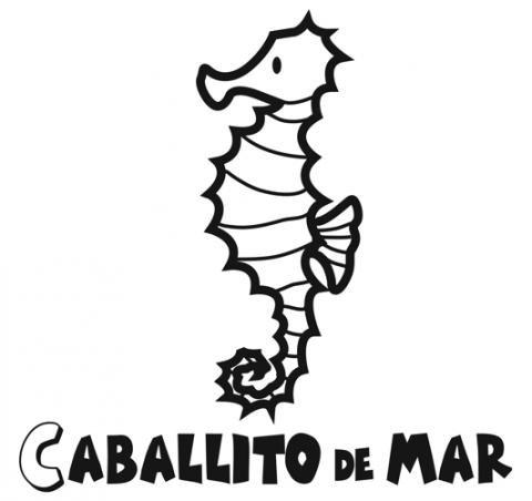 Dibujos de un caballito de mar para colorear. Peces para imprimir y pintar