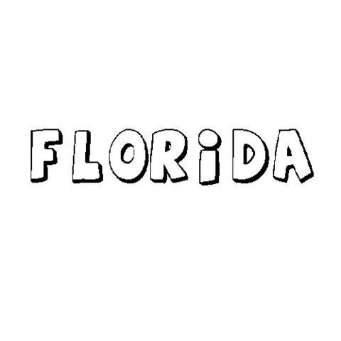 FLORIDA: Dibujos para colorear