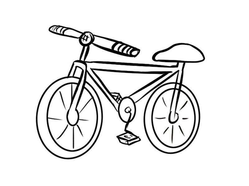 Dibujos de bicicleta para niños. Imprime y colorea este dibujo