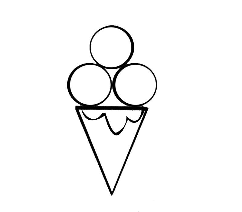 Cucurucho de helado: Dibujos para colorear