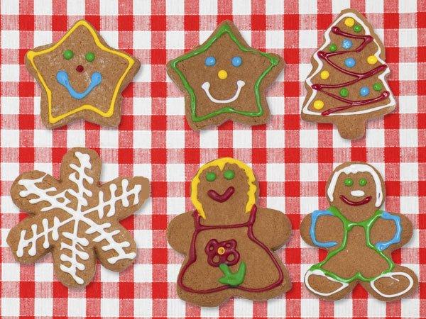 galletas de jengibre para nios dulces de navidad