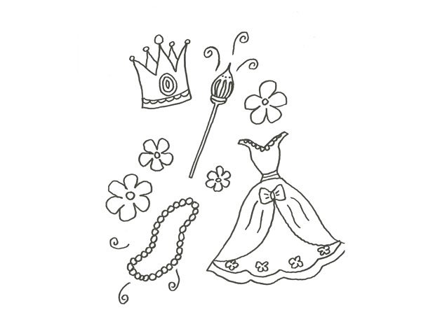Dibujos De Vestidos Para Colorear E Imprimir: Vestidos De Xv Para Colorear